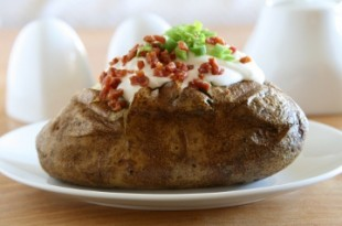 Grillowane młode ziemniaki z szynką