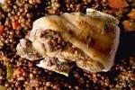 Golonka z grilla z soczewicą