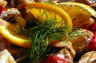 Pomarańczowe szaszłyki z grilla