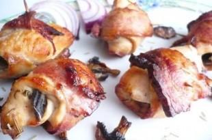 Grillowane roladki z kurczaka i boczku