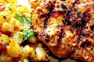 marynowana karkówka curry z grilla