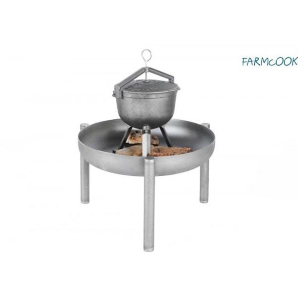 "Kociołek żeliwny Farmcook + palenisko ""Pan 35″"